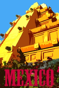 mexico-pyramid-poster