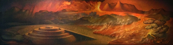 Lava and pyramid