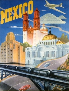 Mexico City tour poster 1935